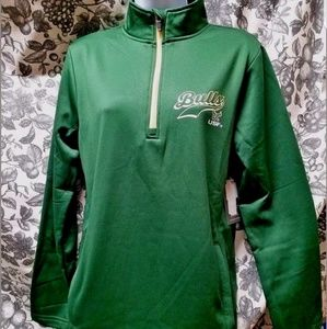 USF Bulls womens 1/4 zip pullover new